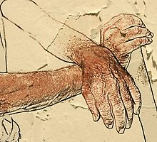 Hands of an old Bulgarian man by Valentina Walker