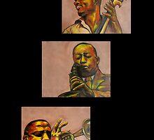 Three Jazzmen by Midori Furze