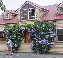 Pretty visitors booking office, Port Fairy by BronReid