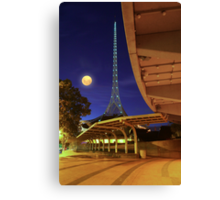 The Spire and the Moon Canvas Print