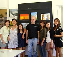 almeida coval with some students of art by Almeida Coval