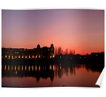 View over the Thames at sunset Poster