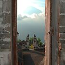 Mt. Agung seen from portals of Lepunyang Temple, Bali, Indonesia by Michael Brewer