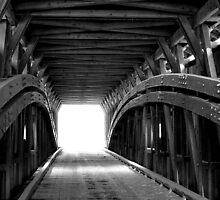 Light at the End of Hunsecker Mill Covered Bridge by Mark Van Scyoc