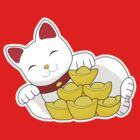 Lucky Cat T-Shirt by Amy Jen