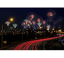 Australia Day Skyworks  Photographic Print