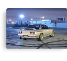 Silver Nissan R32 Skyline GTR #1 Canvas Print