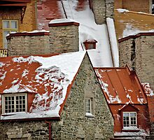 Angular Rooftops, Old Quebec by Yannik Hay