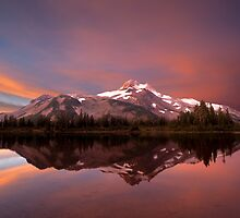 High Cascade Sunrise - Mt. Jefferson, Oregon by Robert Crum Photography