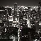 Chicago Downtown View by Night by Julien Delebecque