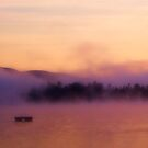 Morning Dew, foggy start to a Kezar Lake Morning by GGleason