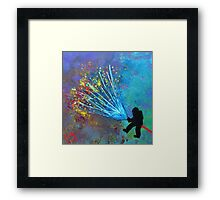 Just a minute, Just a second Framed Print