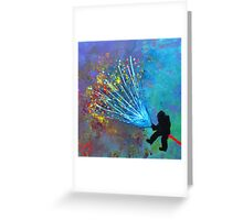 Just a minute, Just a second Greeting Card