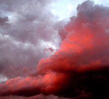 Colorful cloud formations. by Marilyn Baldey