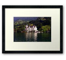 The Park Hotel Vitznau - Lake Lucerne Framed Print