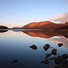 loch droma reflections. by highlandscot