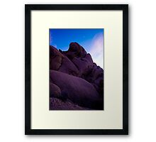Monolith at Dusk, Joshua Tree Framed Print