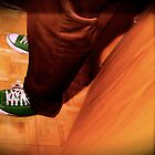 Green Chuck Taylor's - Green on Red by chrissylong