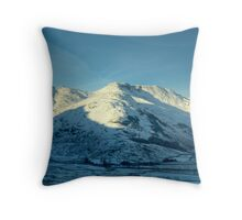Bowfell in Winter Throw Pillow