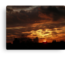 Sunset over London Docklands Canvas Print