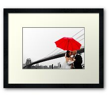 Brooklyn Bridge Wedding Bells II Framed Print