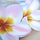 """frangipani on beach"" Close up by Taniakay"