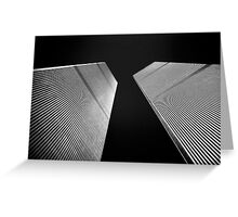 Twin Towers Greeting Card