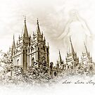 Sketch - Salt Lake Temple by Kory Trapane