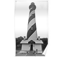 Haunted Lighthouse on a Foggy Day Poster