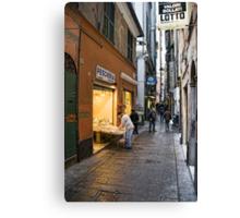 Alleys of Genoa 3 Canvas Print