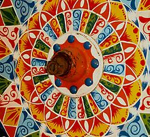 Ox Cart Wheel, Costa Rica by Guy Tschiderer