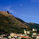 LIGURIA MOUNTAINS LANDSCAPES Moon over Cisano by Enrico Pelos