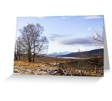 Loch Laiden And The Black Mount Greeting Card