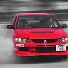 Mitsubishi EVO Burnout by Nick Barker