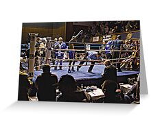 Blue Horizon Boxers 7 Greeting Card