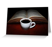 Short Black  and a Book Greeting Card