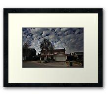 Suburban Clouds Framed Print
