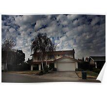 Suburban Clouds Poster