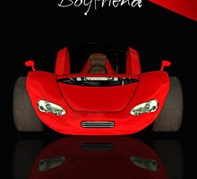 Boyfriend Birthday Card With Red Sports Car  by Moonlake