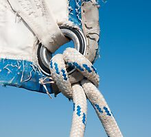 Close Up Sail Rigging by Chris Jones