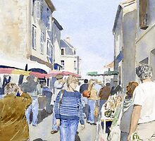 Market day at Piegut, France by ian osborne