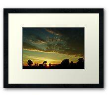 Sunrise scenery Framed Print