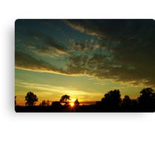 Sunrise scenery Canvas Print