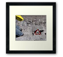 Look out! Cyclists! Framed Print