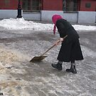 Old Woman in Russia by Christine Wilson