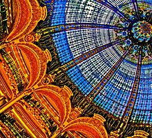 HDR of Lafayette Shopping Center, Paris, France  Glass Ceiling Dome by seanh