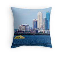 New York Water Taxi Throw Pillow
