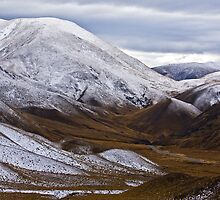 Lindis Pass on the road to Lake Tekapo by lmb76
