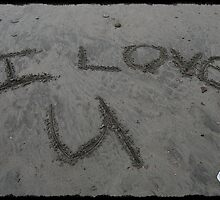 Love Note In The Sand by Jonice