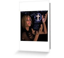 The Blood of the Cross - Christian 3D artwork print Greeting Card